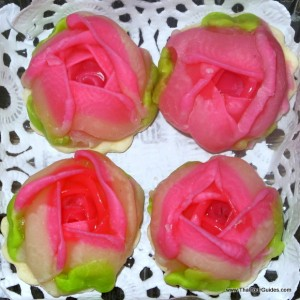 rose-shaped traditional Thai dessert